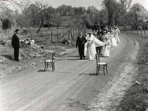 le-mariage-dannie-et-gilbert-marcheteau-a-saint-sauvant-en-1952